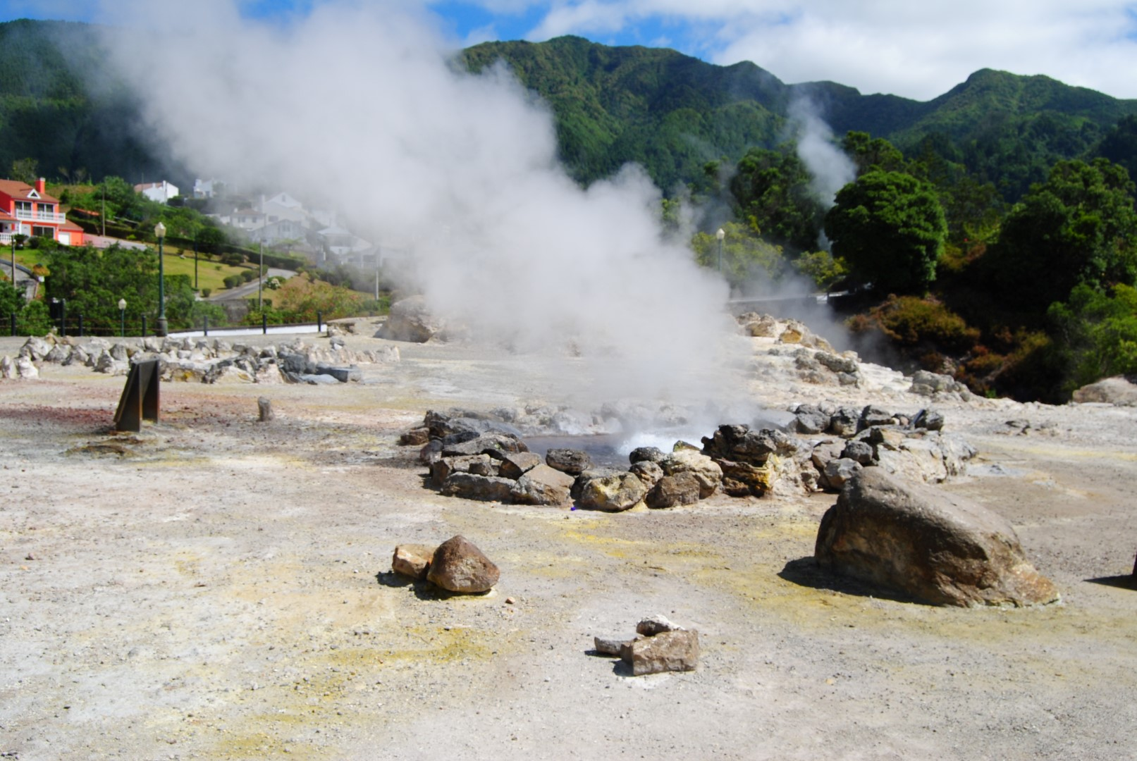 Caldeiras at Furnas village (Fumaroles)