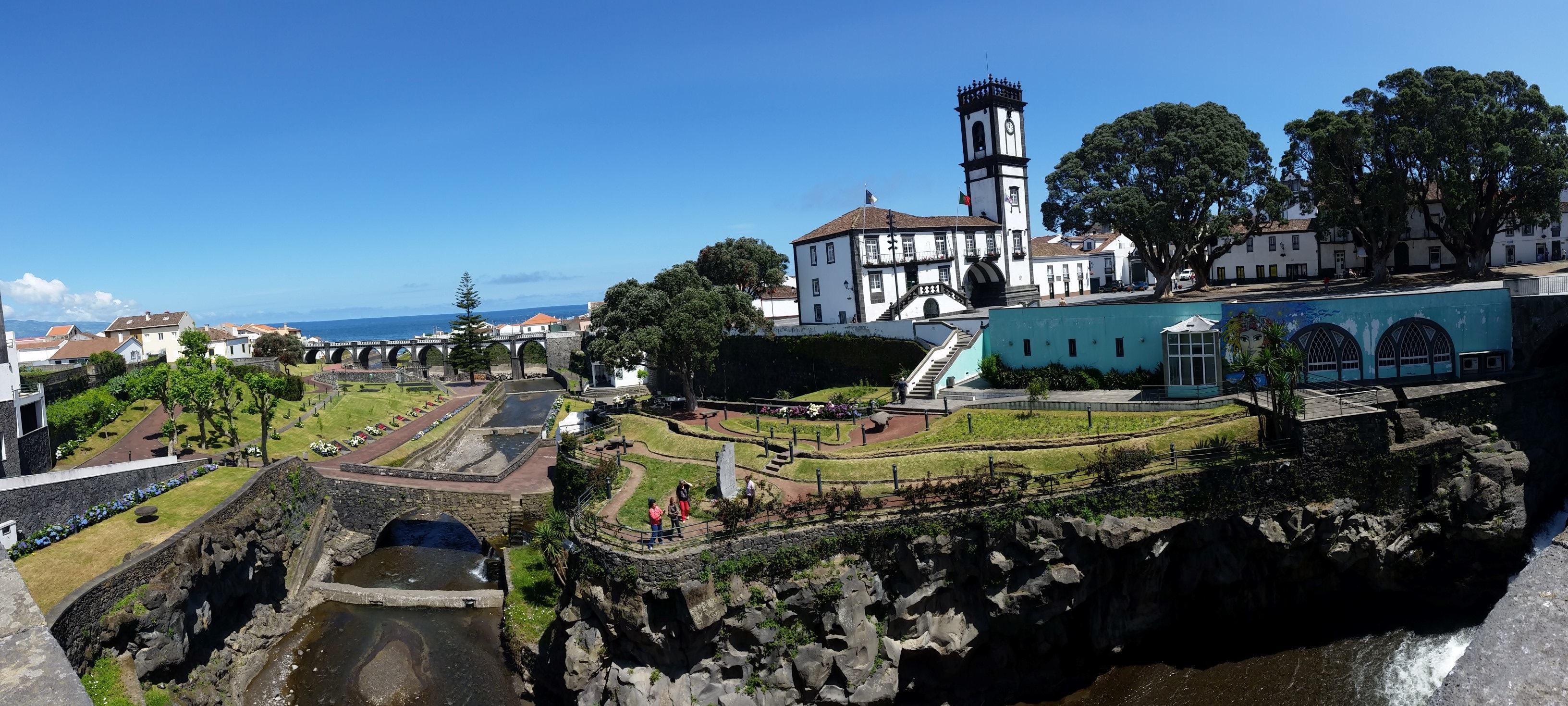 Ribeira Grande City, main square