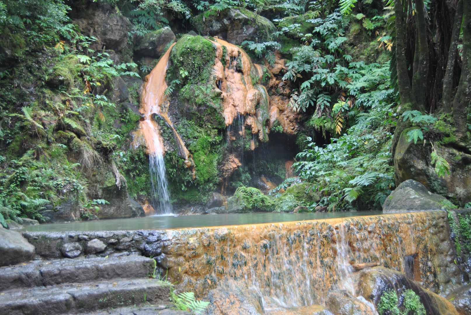 Caldeira Velha Park (warm waterfall and hot thermal pool)